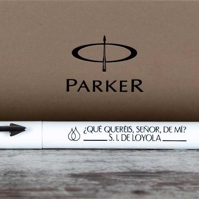 Bolígrafo Parker blanco 2