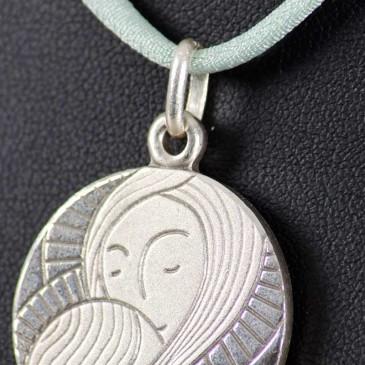 """Medalla de plata """"Virgen María"""" 3"""