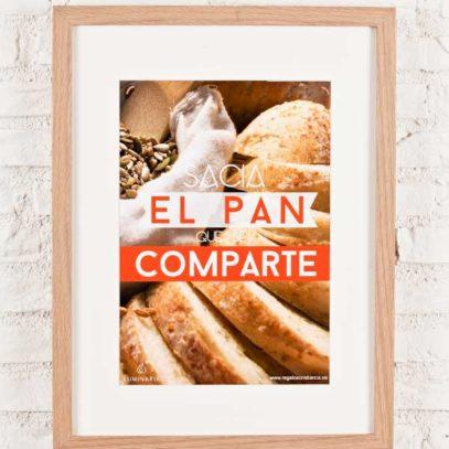 """Cartel """"Sacia el Pan""""1"""