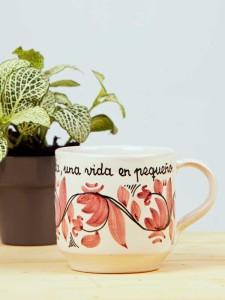 "Taza Rosa ""Un día""4"