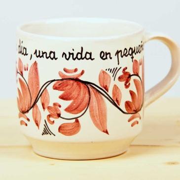 "Taza Rosa ""Un día""1"