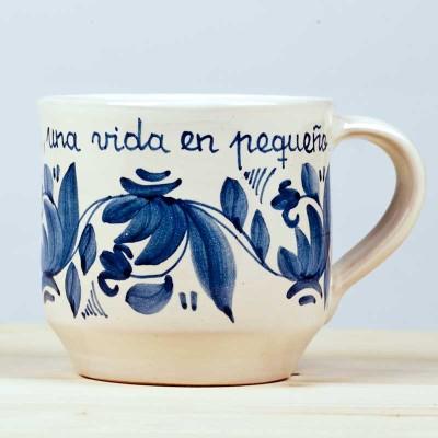 """Taza azul """"Un día""""1"""