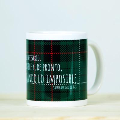 """Taza """"Lo imposible"""" verde1"""