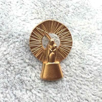 Broche Virgen del Pilar oro