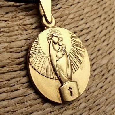 Medalla Virgen del Pilar Baño de Oro