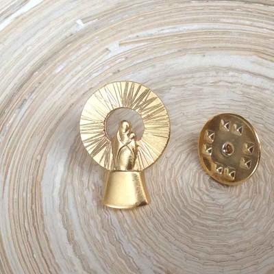 Pin Plata baño oro Virgen Pilar