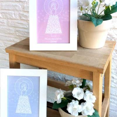 Láminas Virgen del Pilar Manto niños