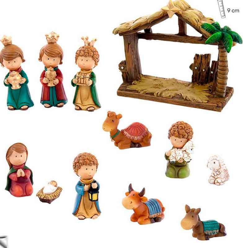 Bel n infantil ricitos luminaria regalos cristianos - Figuras belen infantil ...