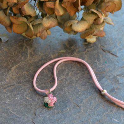 cruz murano pequeña rosa