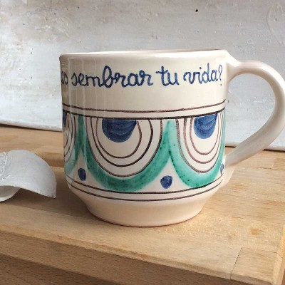 """Taza Verde cerámica """"Sembrar tu vida"""""""