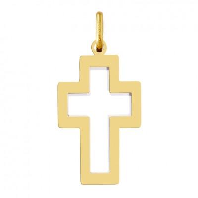 Cruz hueca oro