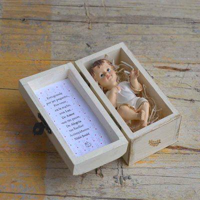 Cajita Niño Jesús con oración