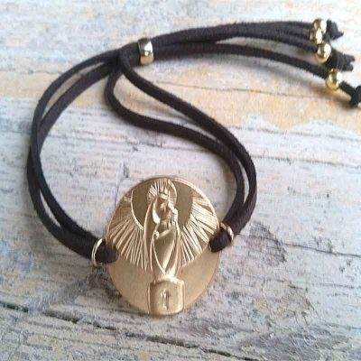 "Pulsera de Plata con Medalla ""Virgen del Pilar"""
