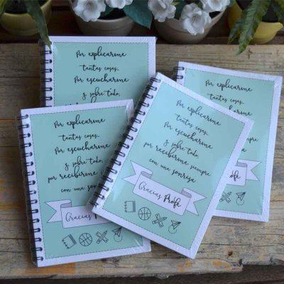 """Cuaderno """"Gracias Profe"""""""