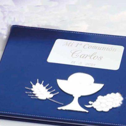Libro de Firmas de Comunión Azul