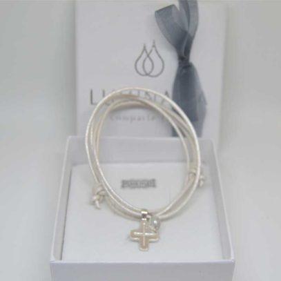 Cruz plata Maria