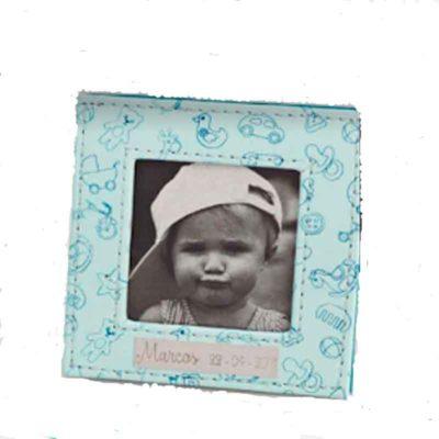 Marquito azul piel bebé dibujos