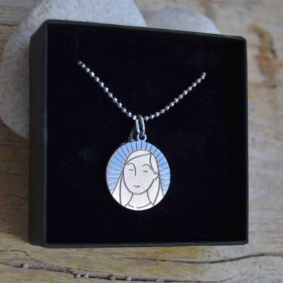 medalla plata Virgen Niña