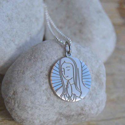 Medalla Plata Virgen María