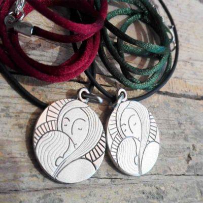 "Medalla de plata ""Virgen María"" Luminaria"
