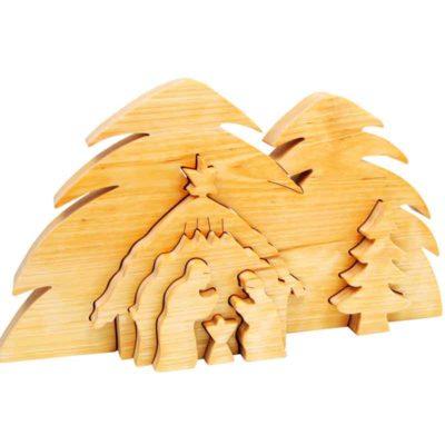 Belén «3D» madera nórdico
