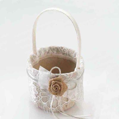 Conjunto Boda puntilla y flor rústica