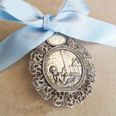 medallón Nacimiento Plata