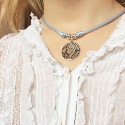 Medalla de Plata Virgen Niña Luz