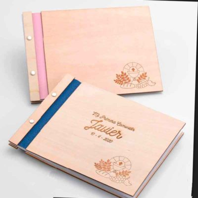 Libro de Firmas madera Comunión personalizado