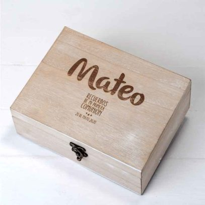 Cofre madera Comunión personalizable