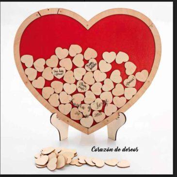 Corazón de deseos madera personalizado