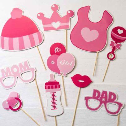 Set de postizos photocall fiesta infantil Babyshower Bautizo
