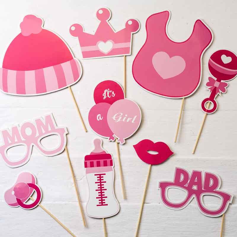 e1b54cfcb Set de postizos photocall fiesta infantil Babyshower Bautizo