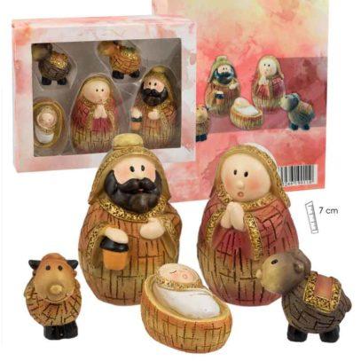 Misterio tipo madera 5 piezas infantil