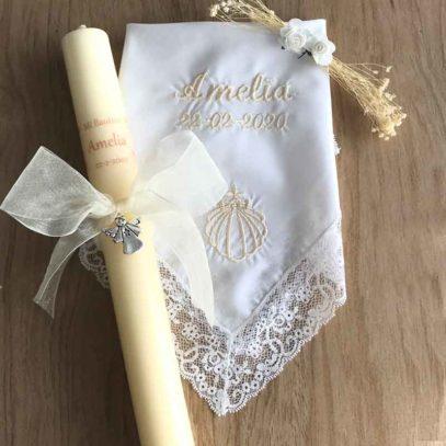 pañuelo de bautizo bordado