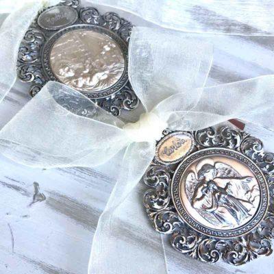 medallon nacimiento plata